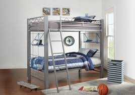 Build Twin Bunk Beds by Build A Bunk Gray 3 Pc Twin Twin Bunk Bed Bunk Loft Beds Metal