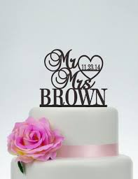 wedding cake topper mr and mrs cake topper with last name custom