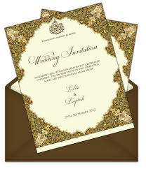 muslim wedding invitation cards letter style email indian wedding card design 66 email wedding