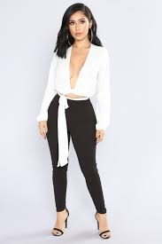all white jumpsuits business jumpsuit white black