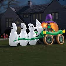 Outdoor Inflatables The Illuminated Ghastly Stagecoach Hammacher Schlemmer