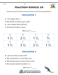 fractions for kids fraction riddles