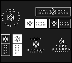 logo design hamburg branding for german fashion label kopf und kragen logo designer