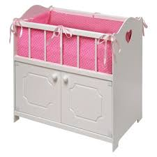 badger basket doll crib with cabinet badger basket storage doll crib white target