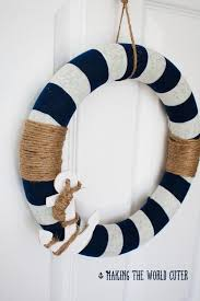 nautical and decor nautical decor how to make this navy and white wreath