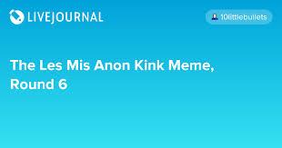 Kingdom Hearts Kink Meme - the les mis anon kink meme round 6 spin hugo spin page 42