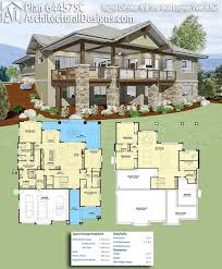 house plans with basement garage attractive lakefront house plans sloping lot 36 lakefrontuse small