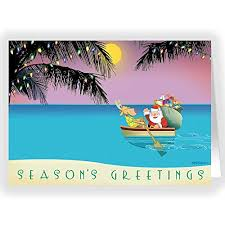 tropical sunset u0026 row boat christmas cards 18 beach christmas