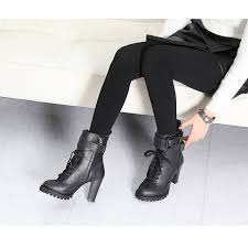 s boots with heels s rock chic buckle synthetic leather combat sole high heels
