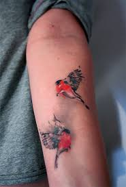 two small birds tattoo