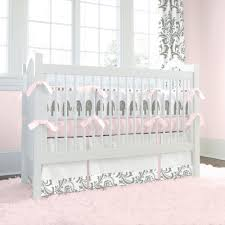 All White Crib Bedding Gallery Pink And Gray Crib Bedding Home Inspirations Design