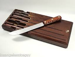 xx kitchen knives vintage xx cap 231 8 butcher kitchen knife set wood