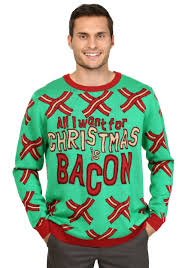 christmas sweaters all i want for christmas is bacon sweater