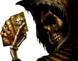 psd detail skull with cards official psds