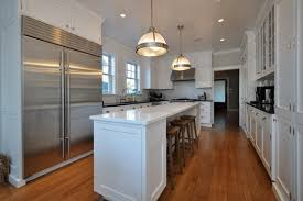 narrow kitchen with island two story addition traditional kitchen new york by anthony
