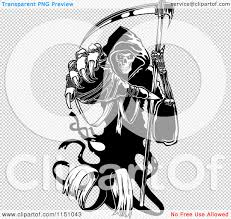 halloween bat no background clipart of a black and white grim reaper holding a scythe and