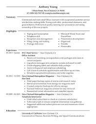 administrative resume examples jospar