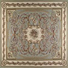 second life marketplace aubusson rug blue gold on cream