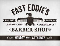 fast eddie u0027s barber shop on behance