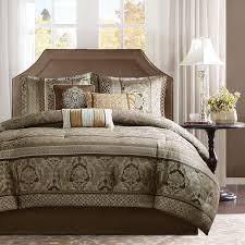Jacquard Bed Set Park Venetian Brown 7 Jacquard Comforter Set Free