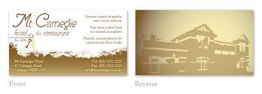 Hotel Business Card Graphic Design For Roger Cagliarini By Rg Design Design 42231
