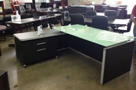 Z Line Belaire Glass L Shaped Computer Desk Compelling Picture Of Small Modern Desk With Drawers Magnificent