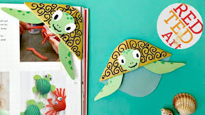 easy turtle bookmark corner diy bonus paper craft video youtube