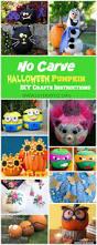 Halloween Crafts Paper No Carve Halloween Pumpkin Decoration Crafts U0026 Instructions
