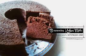 cara membuat brownies kukus simple resep sederhana bagaimana cara mudah membuat brownies kukus dalam