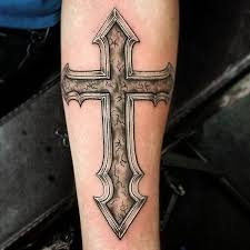 cross necklace tattoo images 90 cross tattoos for the religious and not so religious jpg