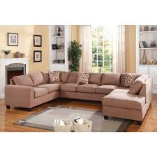Acme Living Room Furniture by Acme Furniture Dannis Reversible Sectional Sofa In Saddle