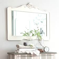 bathroom cabinets white oval mirror shabby chic for alluring frame