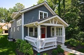 blue house with the red front door small living pinterest with