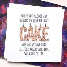 funny boyfriend or girlfriend birthday card blank inside