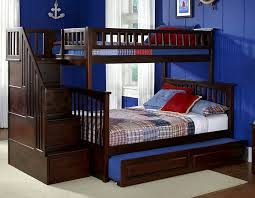 Safety Bunk Beds With Stairs And Trundle Modern Bunk Beds Design - Wooden bunk bed with trundle