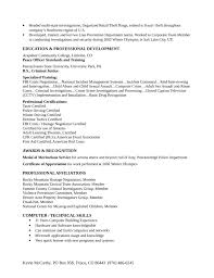 police detective resume corporate security investigator cover letter