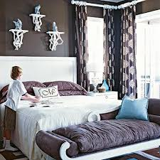purple and brown bedroom this makes me want to incorporate chocolate brown into my dark muted