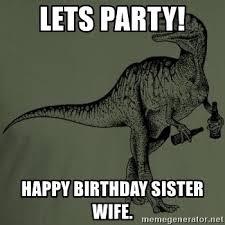 Meme Generator Velociraptor - happy birthday dinosaur meme memeshappy com