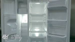 whirlpool white side by side refrigerator wrs322fdaw youtube