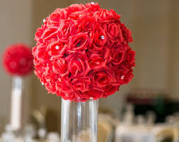 Red Roses Centerpieces Flower Balls Etsy