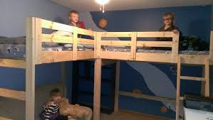 DIY LShaped Bunk Beds Part II Timandmegnet DIY Furniture - Kids l shaped bunk beds