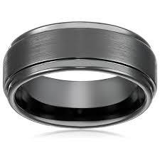 Tungsten Comfort Fit Wedding Bands 8mm Black High Polish Tungsten Carbide Men U0027s Wedding Band Ring In