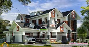 modern mix house with dormer windows kerala home design and