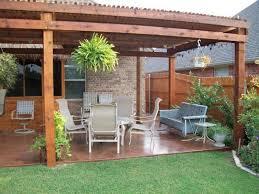 Diy Backyard Ideas Backyard Concrete Patio Ideas And Outdoor Dining Space Plus Oval