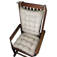 Striped Cushions Online Amazon Com Rocking Chair Cushion Set Ticking Stripe Black