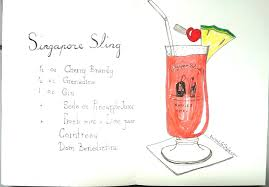 cocktail sketch sketch of the day no 720 in my daler rowney art journal singapore