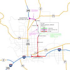 Map Of Spokane Washington File Us395 Nsc Map Jpg Wikimedia Commons