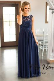 navy bridesmaid dresses beautiful lace details set this dress apart from any other