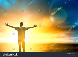 silhouette thought positive rise stock photo 553243363