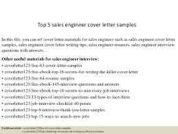 Sales Resume Cover Letter Examples by Top 5 Sales Engineer Cover Letter Samples 1 638 Jpg Cb U003d1434615660